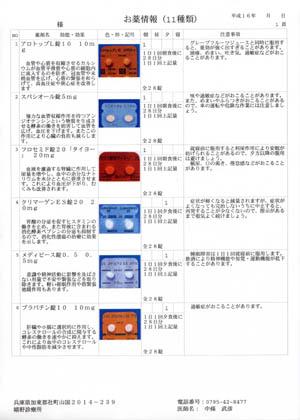 薬剤情報提供書・薬剤写真取込システム 日レセの薬剤情報が診療所様にて簡単に作成できます。